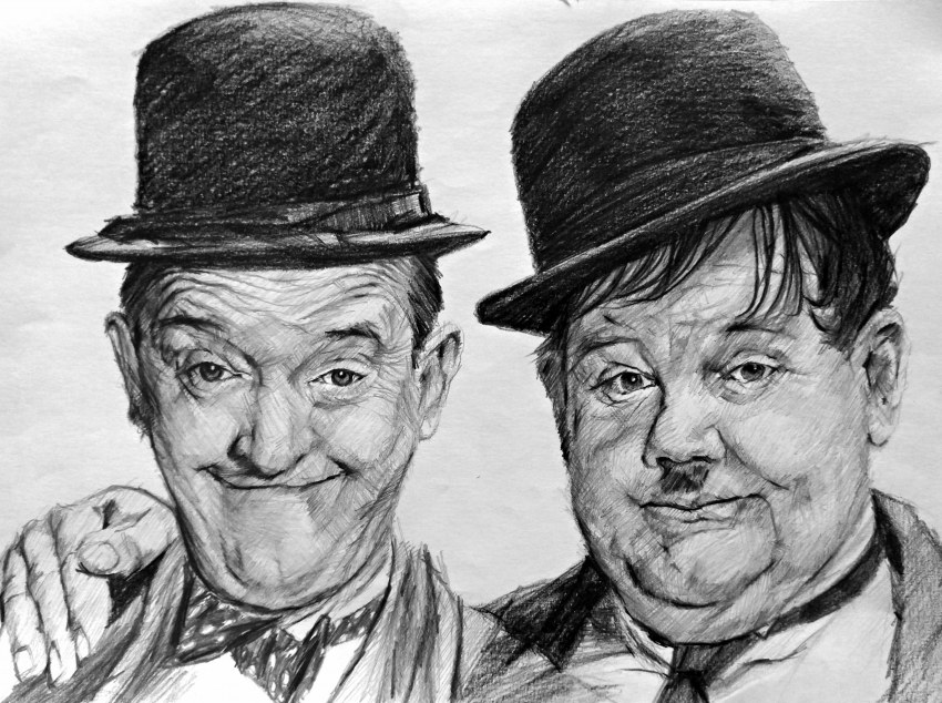 Stan Laurel, Oliver Hardy by linshyhchyang